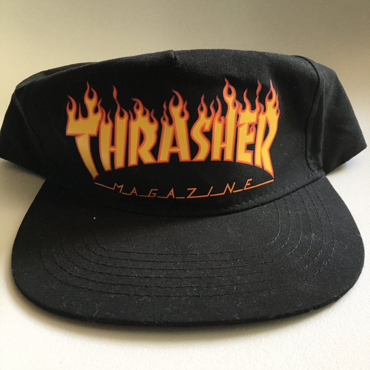 Thrasher Flame Logo Snapback Hat One size fits all. All - Depop e14b03ff296