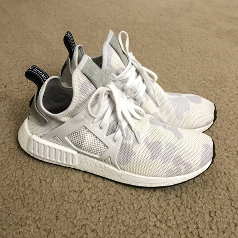 Adidas NMD XR1 White Duck Camo / Great Condition /... - Depop