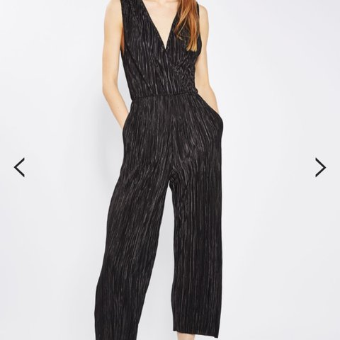 3758fe13755 Oh My Love black pleated culotte jumpsuit (bought from size - Depop