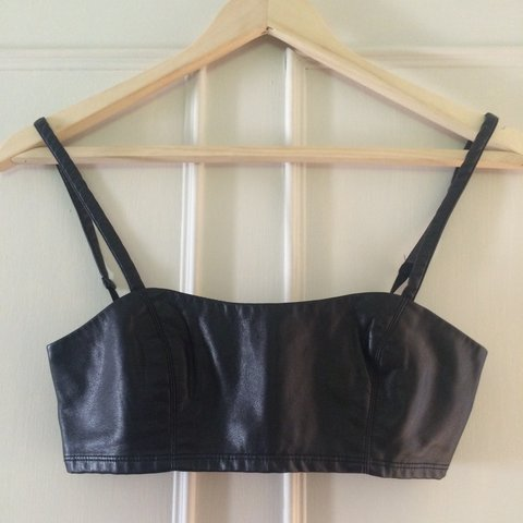 8e8fbda9c1afee Leather bralette   crop top from urban outfitters. Size xs. - Depop