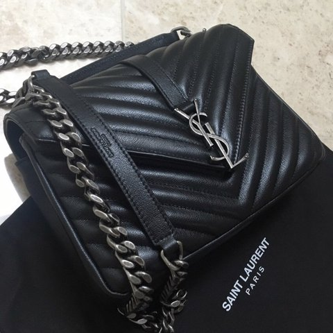 d9dfc6f5abed Authentic Yves Saint Laurent Medium college bag
