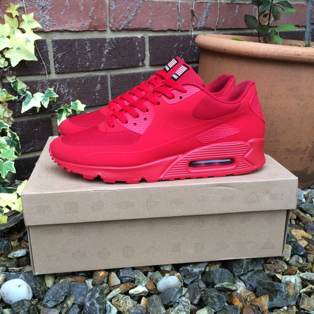 Nike Air Max 90 Hyperfuse 'Independence Day' Red Depop
