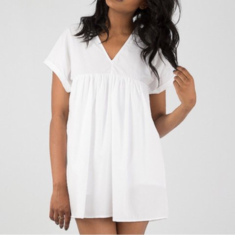 c6cd7e00804 In season Dressed in Lucy oversized white poplin playsuit   - Depop