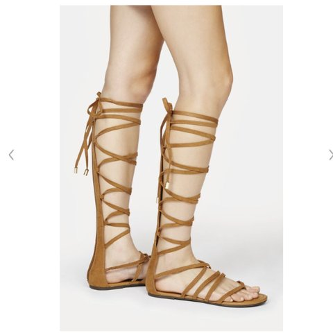 4afd3244c Gladiator sandals size m l so 7 8 thought I d ordered s m to - Depop