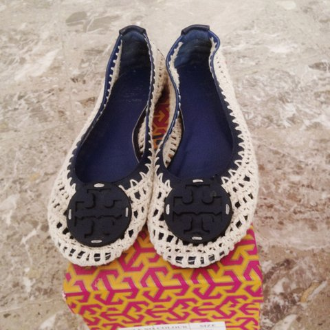 Ballerine color corda e blu in crocquet  toryburch  shoes - Depop 8bcedb95c66d