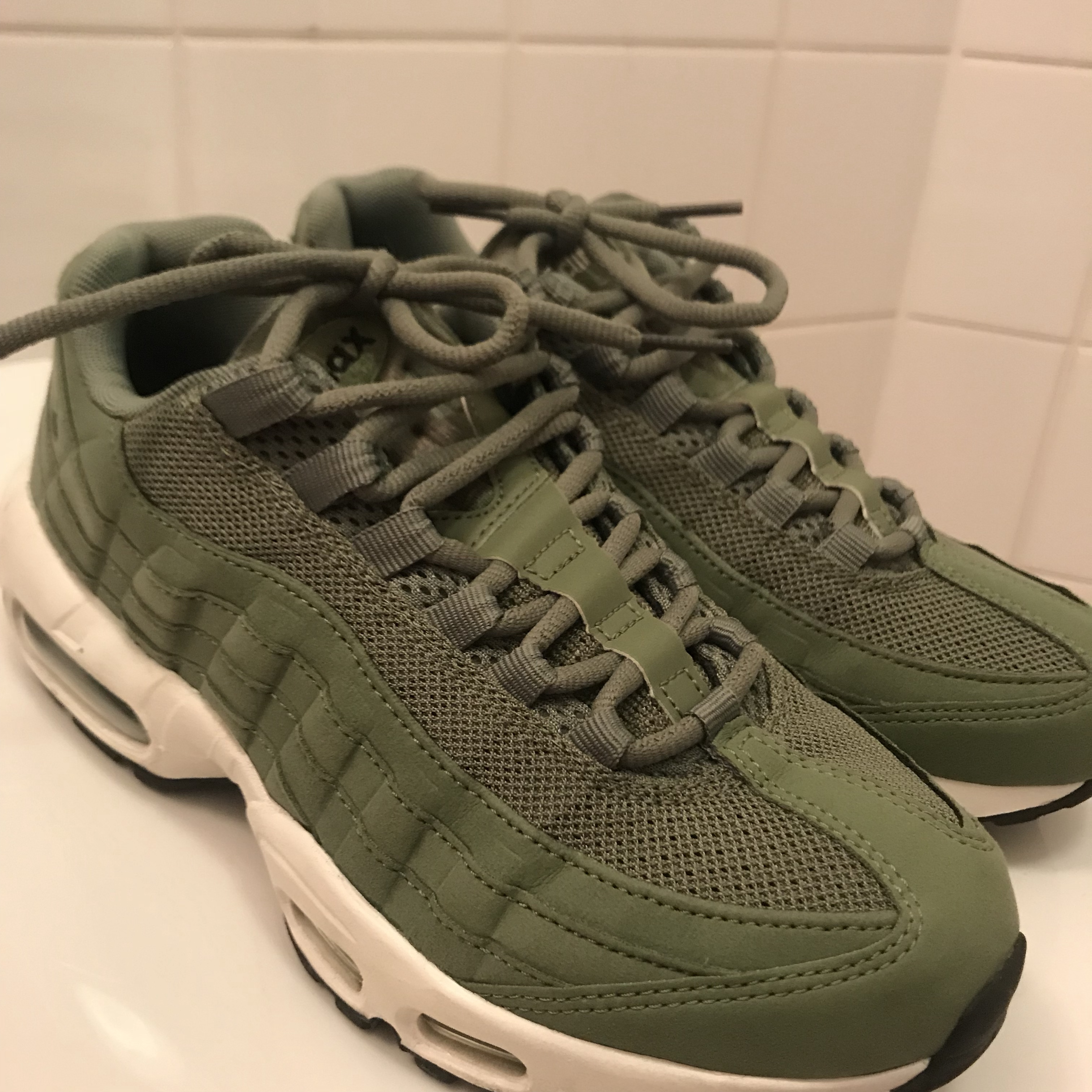 quality design ca559 90fc8 Khaki Green Air Max 95s. Had for about a year but... - Depop