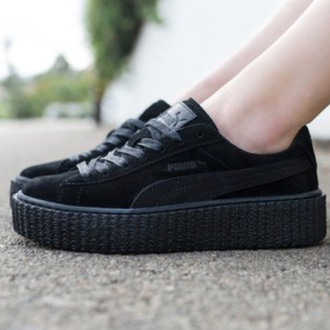 Rihanna Fenty Puma Creepers All black Sold out almost I I - Depop ff0ca8176