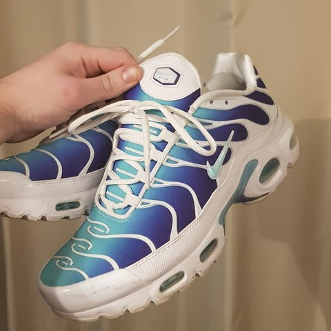 the best attitude 78c86 b28d5 Nike air max tn blue purple white, nike   footlocker size UK - Depop