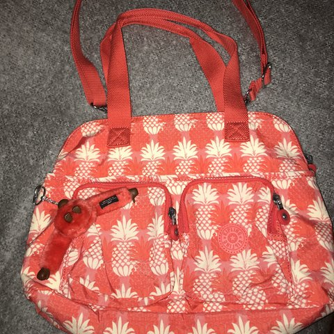 bf2ccf7d2 *Price reduced!* Funky medium sized Kipling bag in bright of - Depop