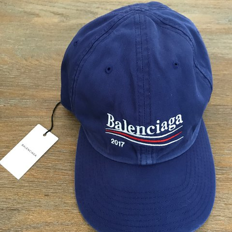 75f91a7944c8e Balenciaga Flag Logo Cap in Blue Brand new with dust bag