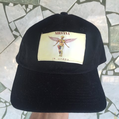1642eec71b8fc Selling this custom Nirvana In Utero hat. I will have more I - Depop