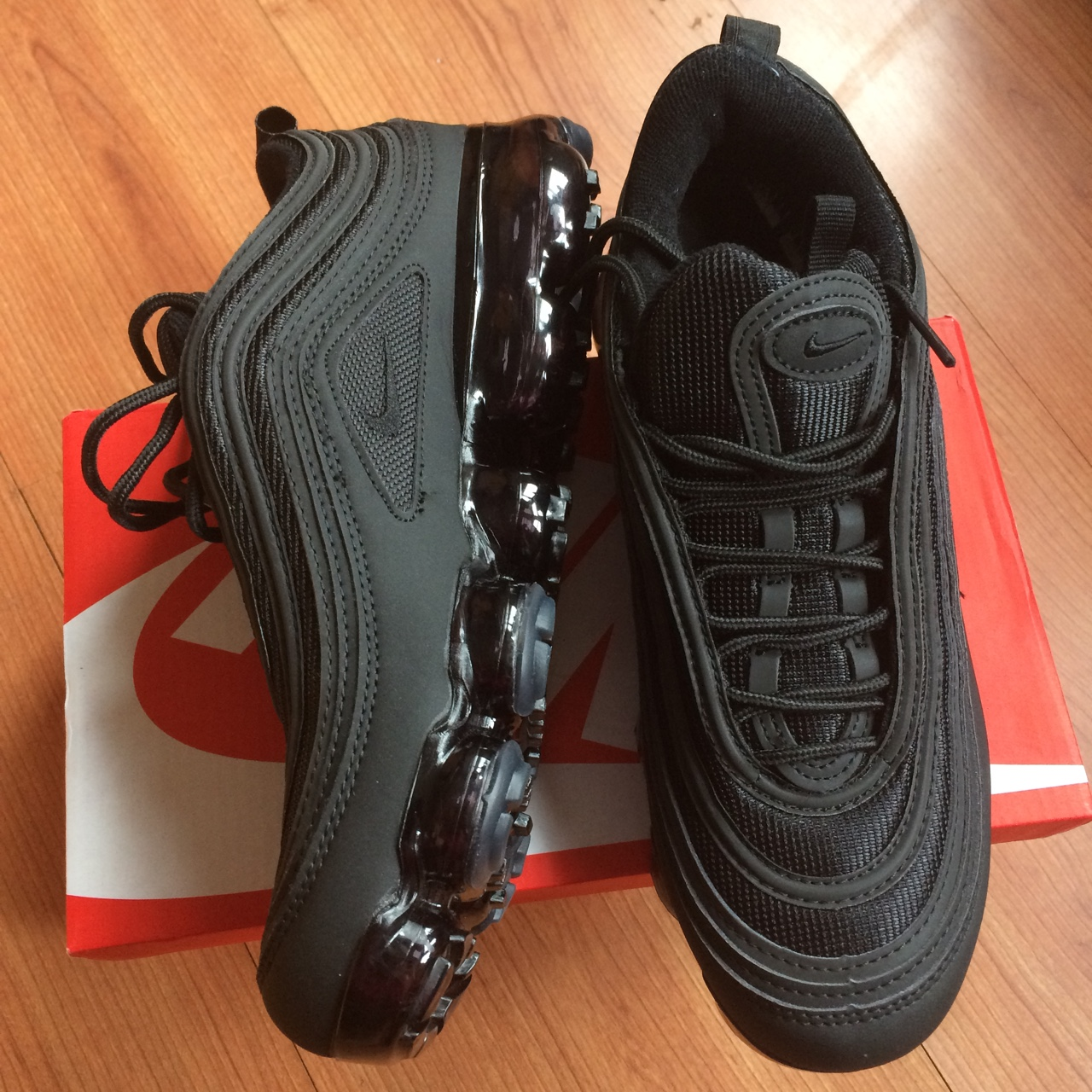 cheaper fb346 5caf4 Nike air Vapormax 97, triple black, brand new with... - Depop