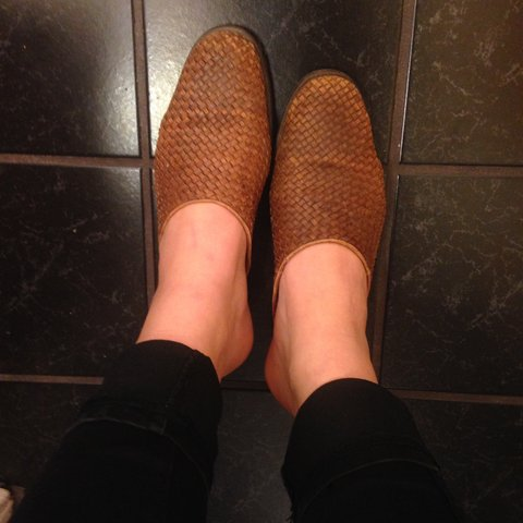 727f4ca5e4fb LAST CHANCE 🌟vintage woven leather mules backless loafer