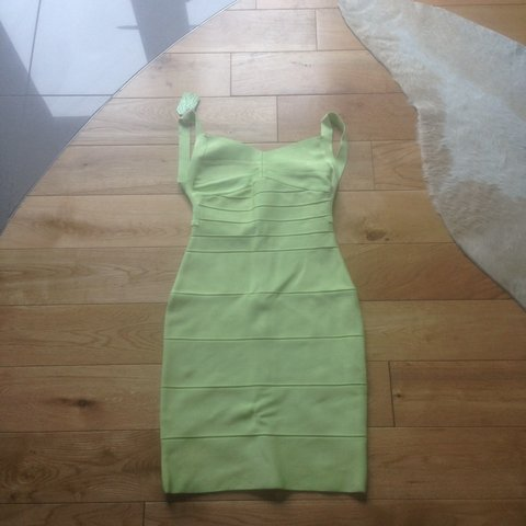 f844c78d3b9e @ashleighcallie. 4 years ago. Carrickfergus, Carrickfergus, UK. Brand new  lime green bandage dress.