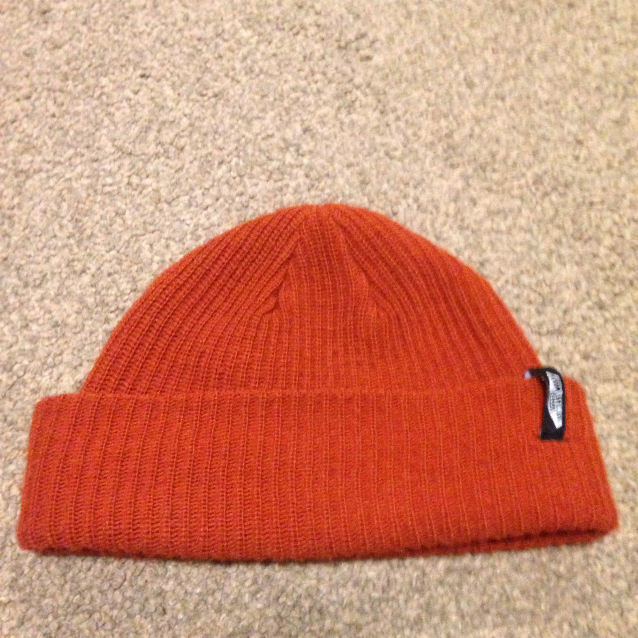 6ef24a5a535c6 Vans fisherman beanie Burnt orange colour - Depop