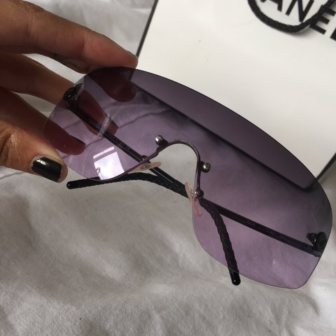 41822565182 Chanel pink sunglasses. In original case and bag with dust m - Depop