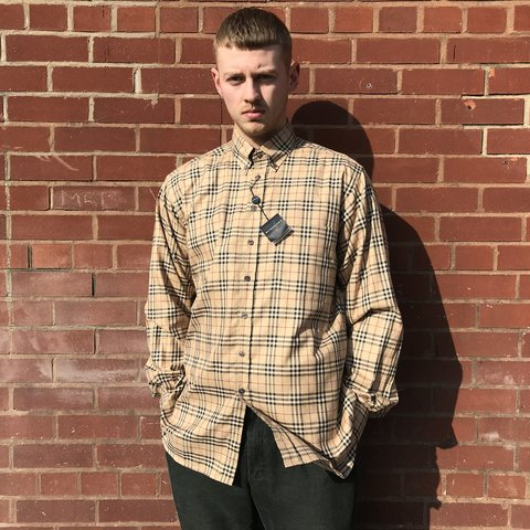 60477454f XL new with tags vintage Burberry novacheck shirt, really 25 - Depop