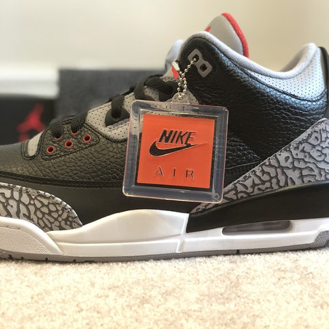 the best attitude 6b9a3 6c12a  stephenc1. last year. Weybridge, United Kingdom. Air Jordan 3 Retro OG  Black Cement Exclusive limited release from Nike SNKRS launch