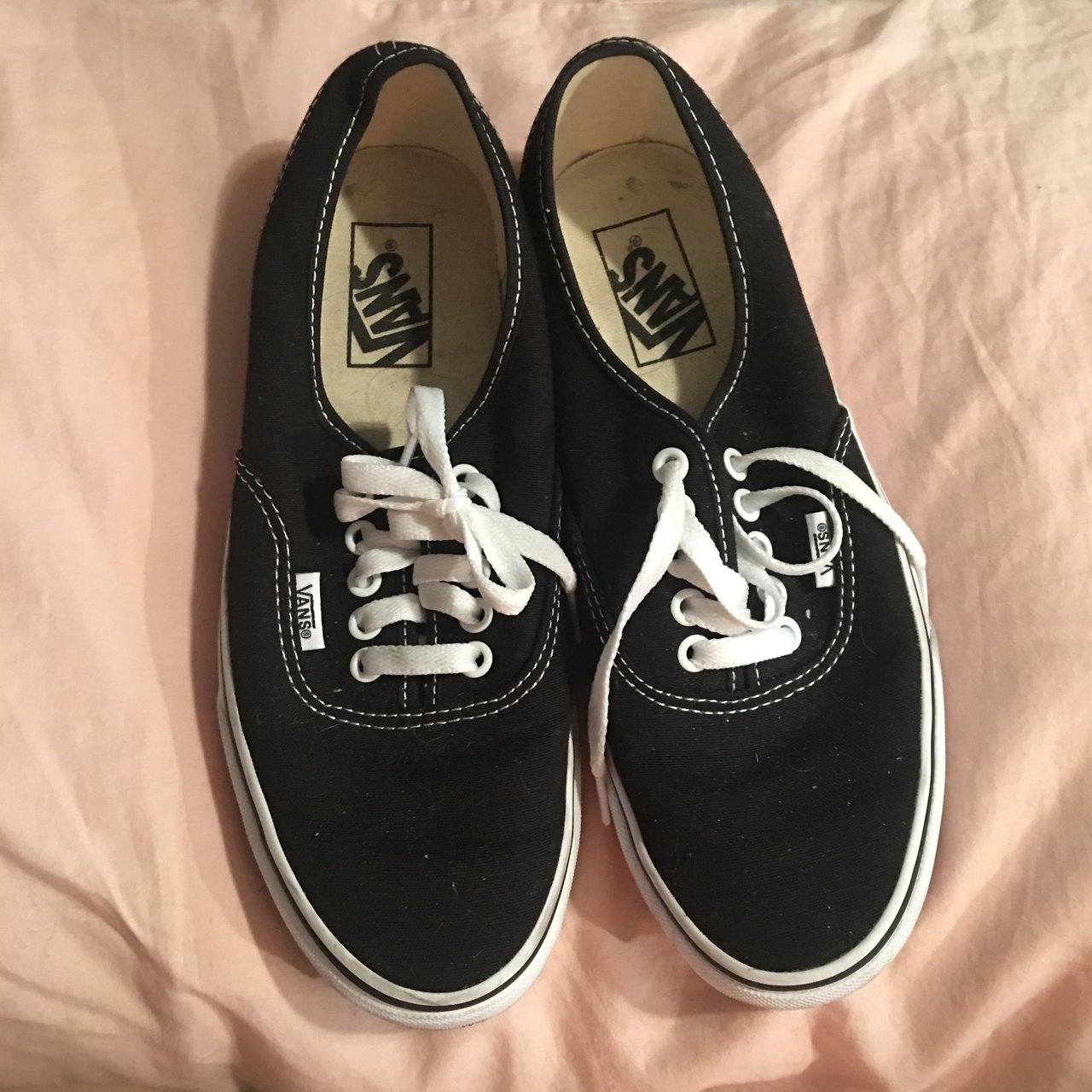 8454945692a Black original Vans Women s Size 8.5!! I wore them  once  so - Depop