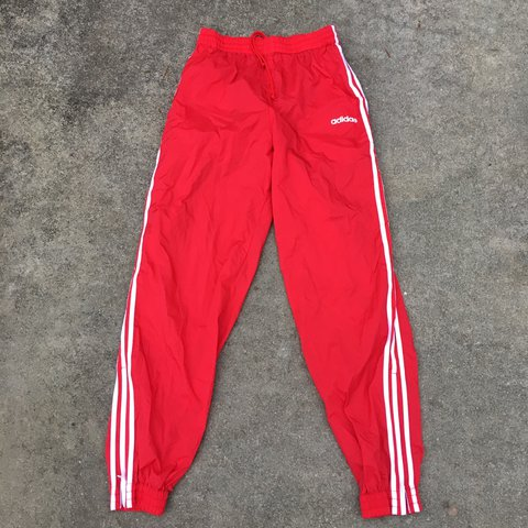 983f025be @nightcourt. 2 years ago. Richmond, United States. Vintage early 90s Adidas  track pants red with white stripes.