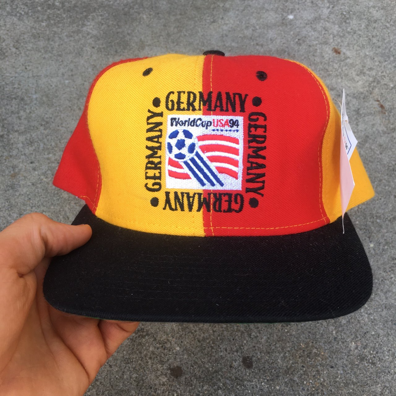 Vintage World Cup 94 Team Germany snapback cap. Deadstock in - Depop e0be8ad93b6f
