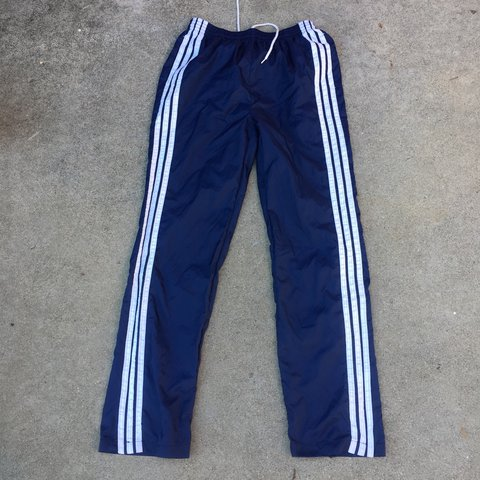 bb37ae4d8 @nightcourt. 2 years ago. Richmond, United States. Vintage 90s Adidas track  pants with big stripes.