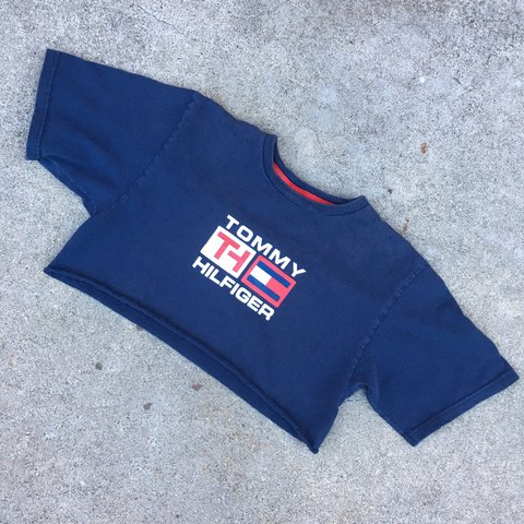 89055ecdafea1 Vintage Tommy Hilfiger crop top tee. Washed and worn but L