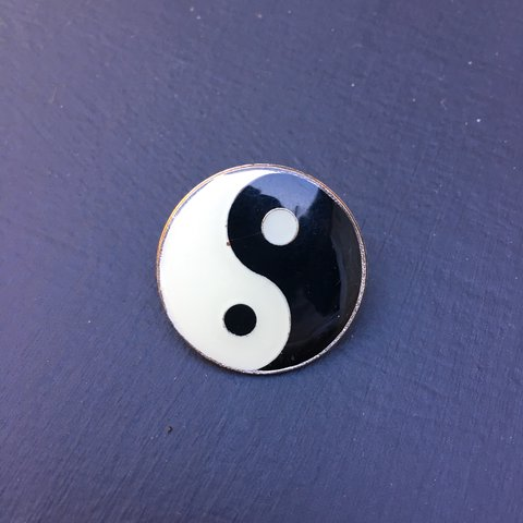 Vintage Yin Yang Enamel Pin Shipping Is An Additional 3 Depop