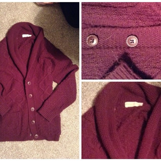 e51ef07cbe Urban outfitters cardigan baggy. Burgundy. Size - Depop