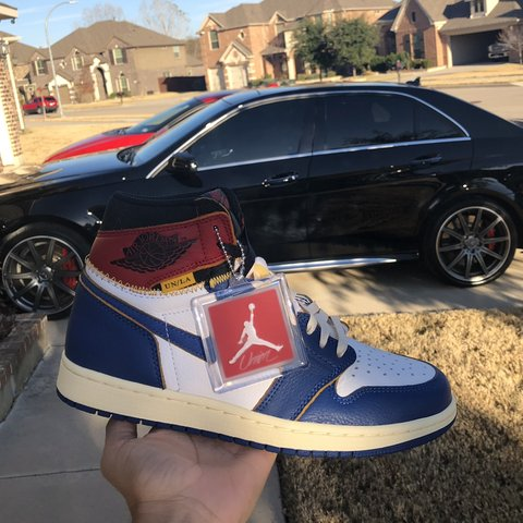 7e36aaeca17 @paydrofell. 6 months ago. Fort Worth, United States. Union x Jordan 1. Blue  toe. LOS ANGELES EXCLUSIVE