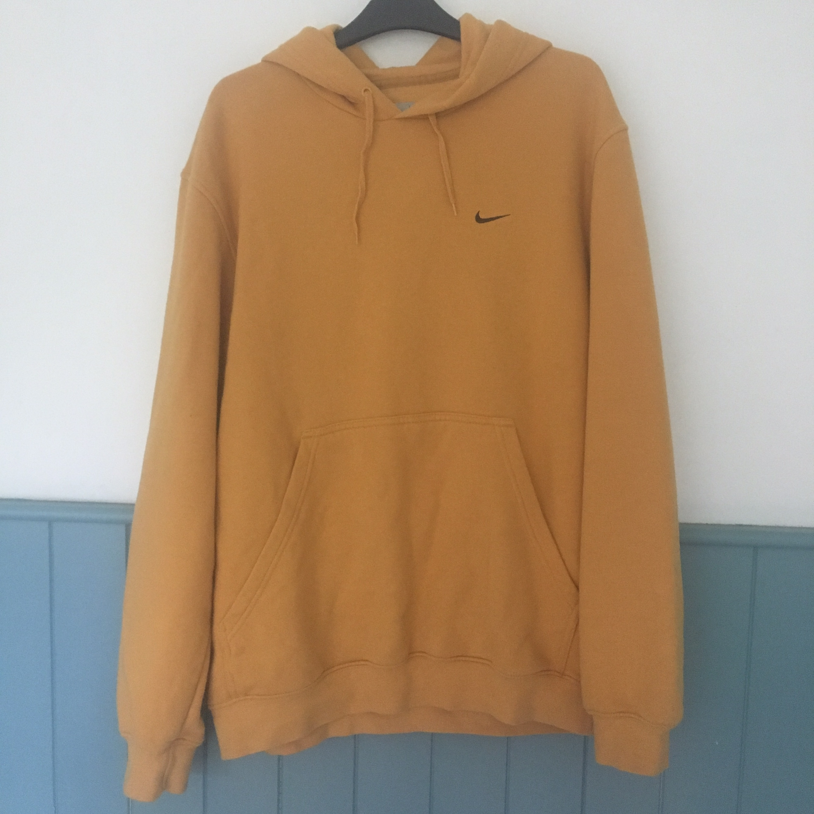 quality classic styles best Mint condition Nike mustard yellow gold hoodie •... - Depop