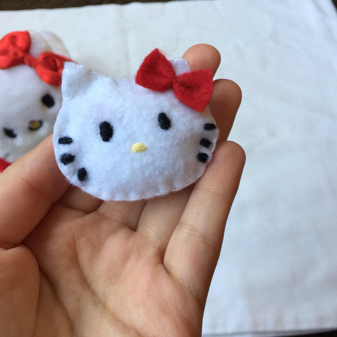 a2fede26d @ksissick. yesterday. San Francisco, United States. Made to Order Hello  Kitty hair pin.