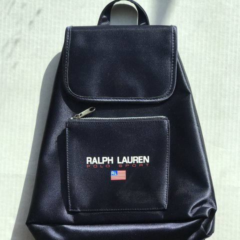 1331f470a6 Navy Vintage Ralph Lauren Polo sport book bag In pristine - Depop