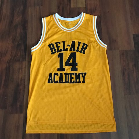 47340c8cfb38 Fresh Prince Of Bel Air academy basketball jersey (great  25 - Depop