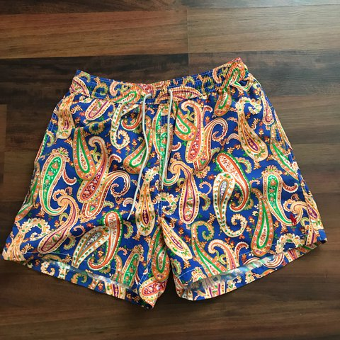 a3ff371be Polo Ralph Lauren paisley swim shorts Mens Size Medium good - Depop