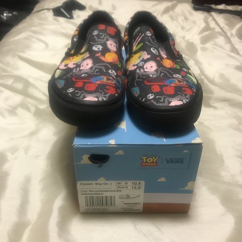 bd5944d180 limited edition Toy Story x Vans slip ons Men s 10.5   12 - Depop
