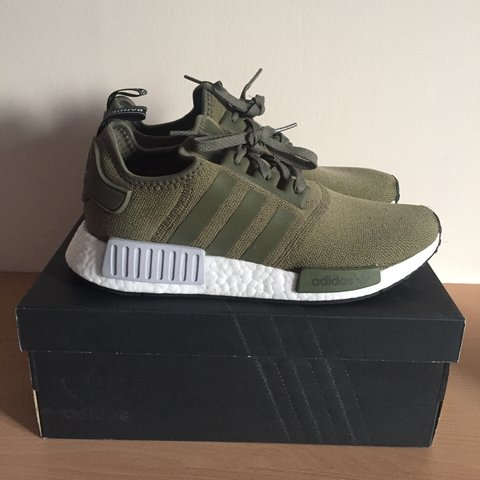 006b2218c Adidas NMD R1 Olive Green. 9 10 condition