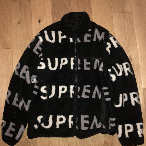 Ebohonj 6 Months Ago London United Kingdom Supreme Reversible Logo Fleece Jacket