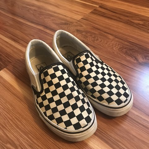 2af485704170 ON HOLD!!!!! Black and white checkered slip on vans