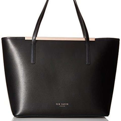 04f85e2475 @clairesmedley. last year. Sheffield, United Kingdom. TED BAKER ' Ammber '  medium tote bag black with rose gold ...