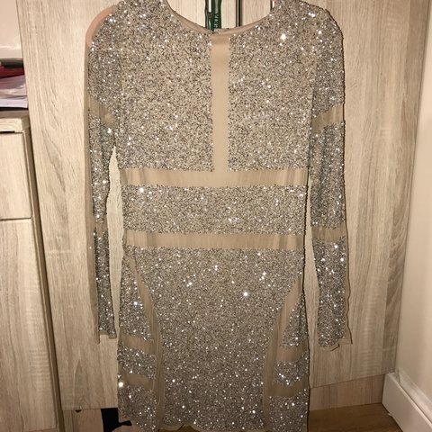170ccee5c6 Premium Missguided embellished sequin dress worn once for my - Depop