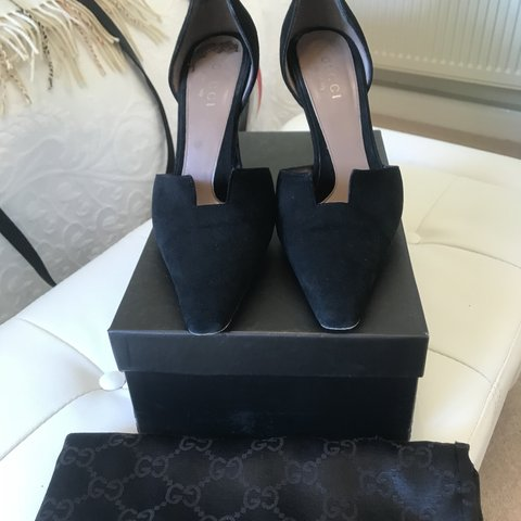 f178edd1f Amazing condition Gucci evening heels in suede with patent a - Depop