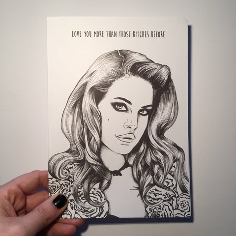 Lana Del Rey Love You More Than Those Bitches Before Card Depop