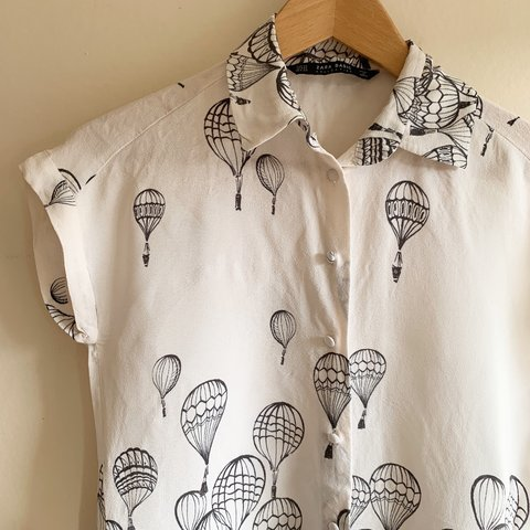 ef4a621140e0dc @rriin. 2 months ago. London, United Kingdom. Zara hot air balloon button  up shirt ...