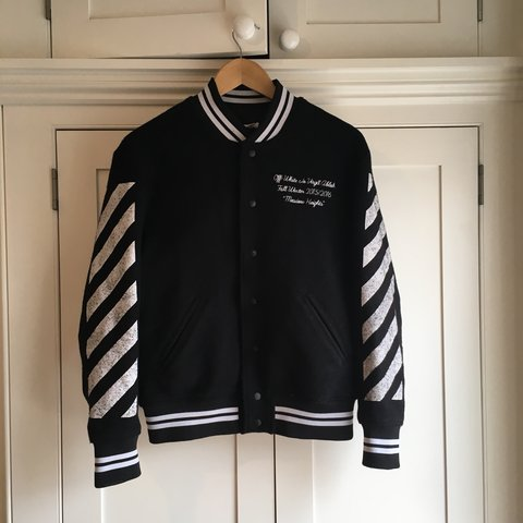 acd16b8af8d1 Off-White fall winter 2015 16 Meadow Heights Varsity Jacket - Depop