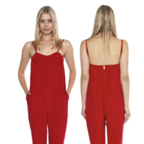 1ea0416804f The stone cold fox Jerry Jumpsuit in red! Selling a sample - Depop