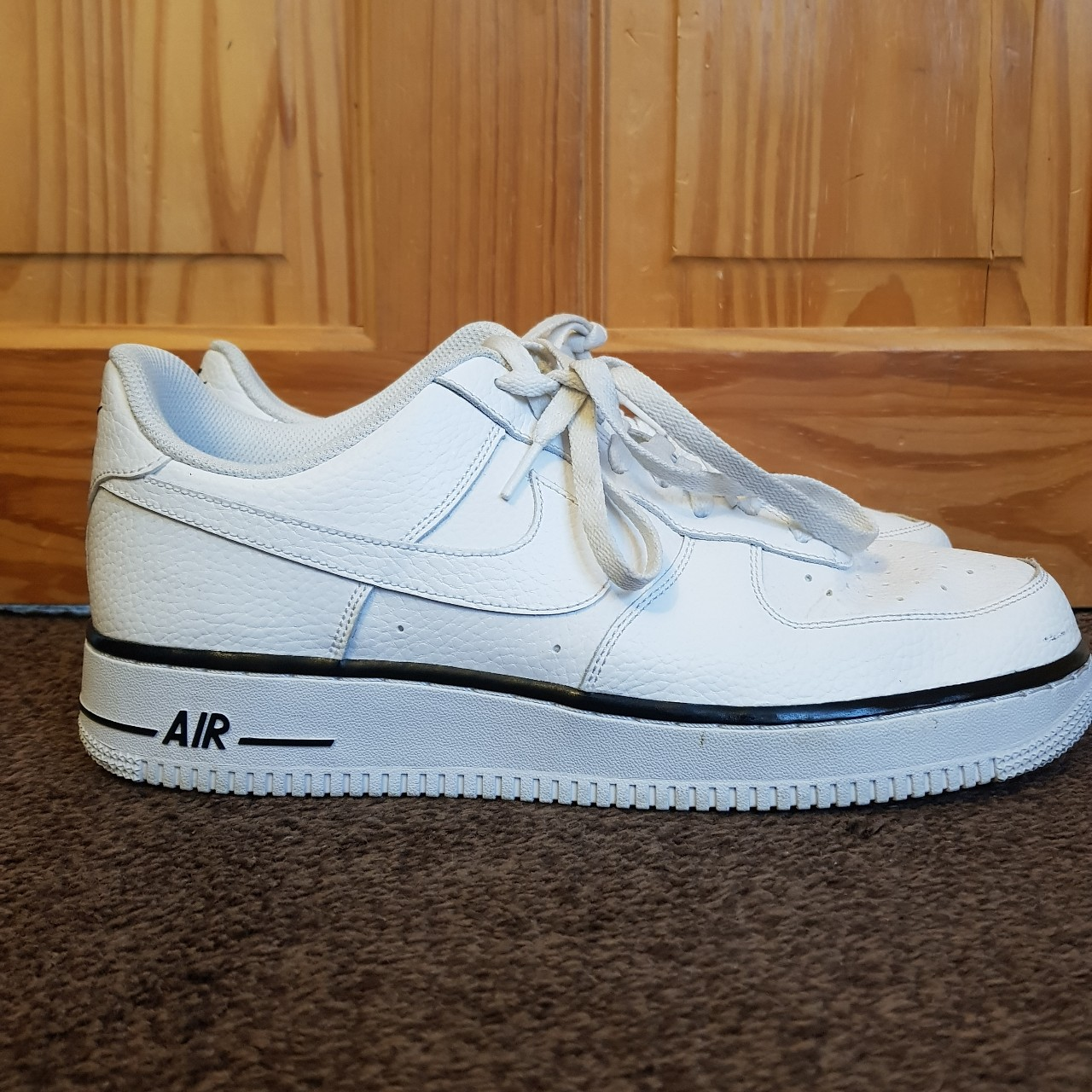 NIKE Air Force 1 Low White with black foxing stripe | Shoes
