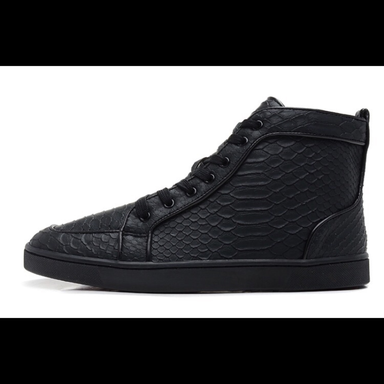 outlet store cacc9 a9509 Louboutin hi tops crocodile skin all sizes available - Depop