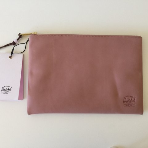 873a3df23b48 Herschel Network Pouch in ash rose nubuck leather. This the - Depop