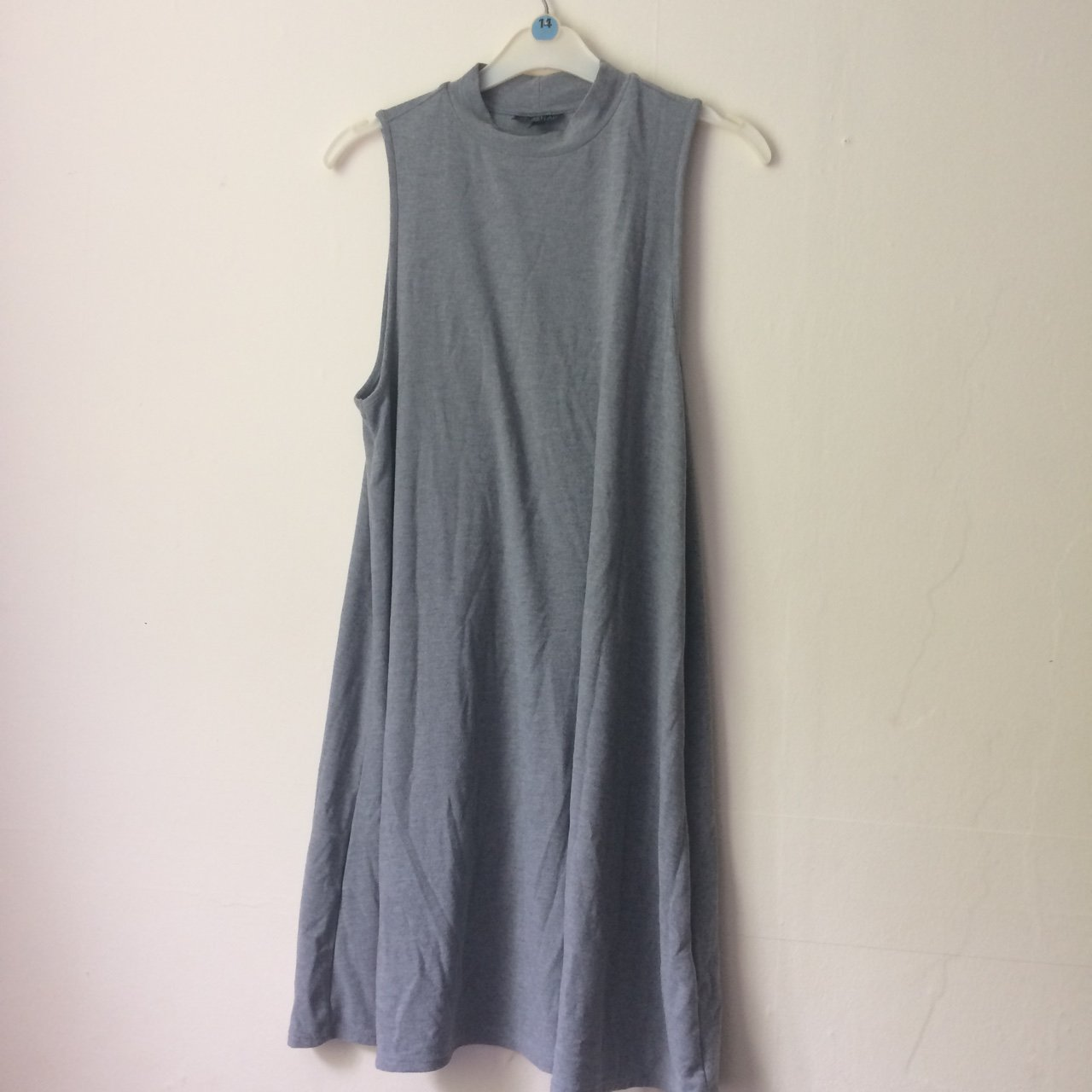 7c3aa0ff29 Grey knee length skater dress with turtleneck originally but - Depop